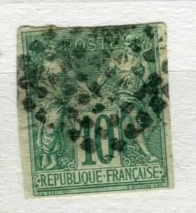 FRENCH COLONIES; Classic 1877-78 Imperf P & C type fine used 10c. value