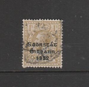 Ireland Opts 1922 Type 5, 1/- Used SG 63