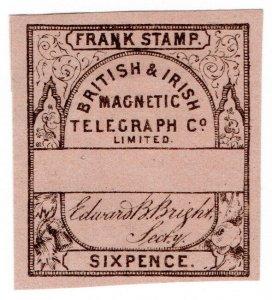 (I.B) British & Irish Magnetic Telegraph Company 6d (no control)