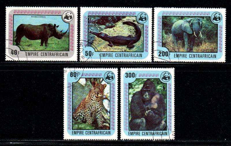 Central African Empire  # 323-28 ~ Short Set 5/6 ~ CTO, LHM