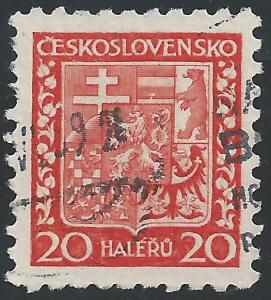 Czechoslovakia #154 20h Coat of Arms