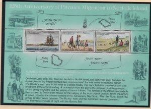 Norfolk Island Sc 279a 1981 Pitcairn Relocation stamp sheet mint NH
