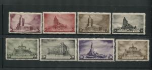 1937 Russia Postage Stamps #597-604 Mint Never Hinged VF Original Gum