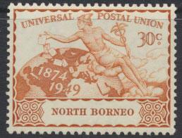North Borneo  SG 354 SC# 242 MNH  UPU 1949
