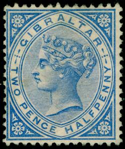 GIBRALTAR SG11, 2½d Blue, M MINT. Cat £85.