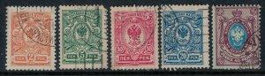 Finland #77-81  CV $3.00