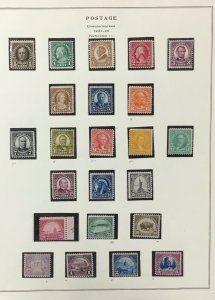 U.S. Regular Issue stamps from 1922-1925   Mint with hinged and never  hinged