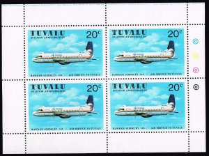 UK STAMP TUVALU WRIGHT BROTHERS MNH S/S STAMPS LOT #2