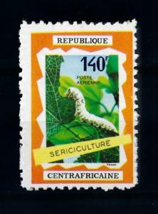 [70596] Central African Republic 1970 Insect Silkworm Airmail Stamp  MNH