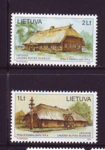 Lithuania Sc700-1 2001 Ethnographic Museum stamp set mint  NH
