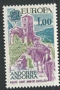 French Andorra =  Scott # 254 - MH