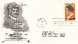 1985, Abigail Adams, Artcraft, FDC (D7849)