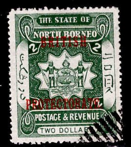 North Borneo Scott 119 Used British Protectorate overprint