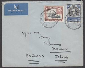KENYA UGANDA TANGANYIKA 1940 (4 Nov) cover to UK ENTEBBE cds..............57659
