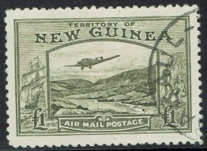NEW GUINEA 1939 BULOLO AIRMAIL 1 POUND USED