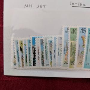 Seychelles - Zil El. Sesel 1a-16a VFNH, CV $21.90