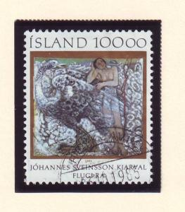 Iceland Sc 615 1985 painting stamp used