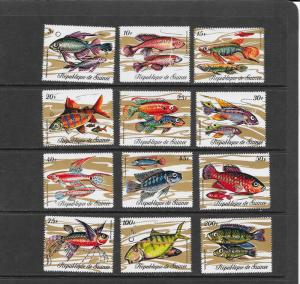 Guinea MNH 570-81 Fish 1971 SCV 13.15