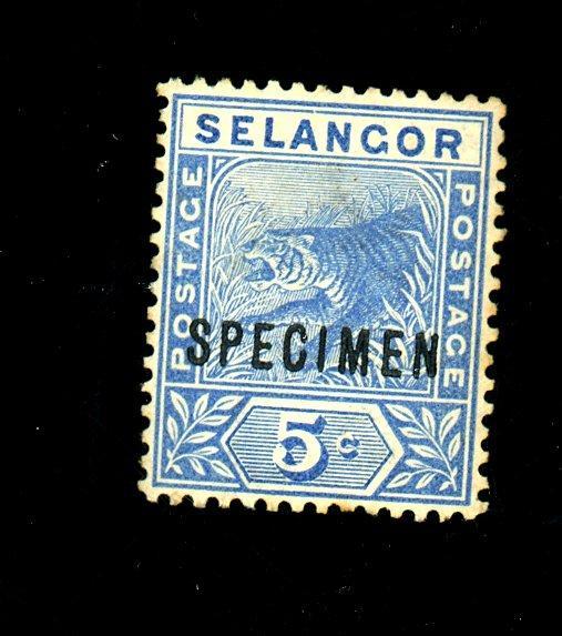 Malaya Senegor #27 Specimen F-VF OG HR Cat$50