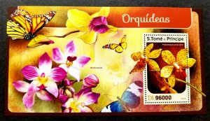 *FREE SHIP Sao Tome Orchids 2016 Flower Flora Plant Butterfly Insect (ms) MNH