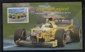 Ireland Sc  1300 2001 Motorsports stamp souvenir sheet mint NH