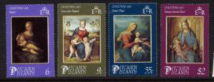 Pitcairn Islands 262-5 MNH Christmas, Art, Paintings