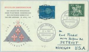 67105 - GERMANY - Postal History -  SPECIAL COVER 1961: BOY SCOUTS