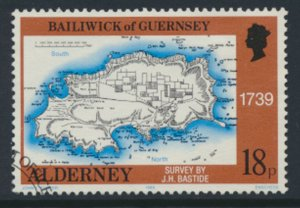 Alderney  SG A38  SC# 38   Bastides Maps Used First Day Cancel - as per scan