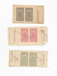 CUBA, 1894 REVENUE PAIR COLLECTION