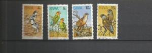 SOUTHWEST AFRICA 1974 BIRDS SCOTT 363-6 MNH SCV $26