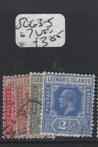 LEEWARD ISLANDS (P2305B)  KGV  SG 63-5, 67     VFU