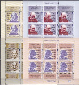 Gibraltar #770-73   MNH   Sheets Of 6 CV $28.80  (Z2509L)