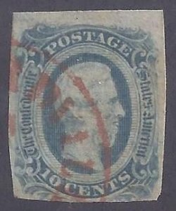 CSA Scott #12 Used with Red town cancel, Fine