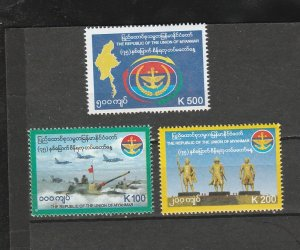 BURMA STAMP 2020 ISSUED ARN FORCED DAY COMMEMORATIVE SET,MNH