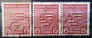 Germany Provinz Sachsen 2 x 80Yb