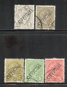 Luxembourg # O75-79, Used. See Description. (56)