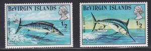 British Virgin Islands # 243-244, Game Fish, NH