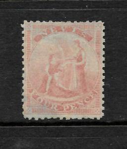 NEVIS  1862  4d  ROSE  MH BLUE PAPER   SG 6a  CV 850pds