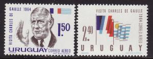 Uruguay #C264-65 F-VF Mint NH ** DeGaulle, flags