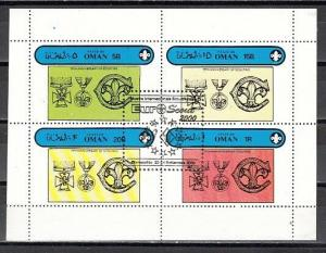 Oman State, 2000 Local issue. Euro-Scout 2000, Black o/print on Scout sheet