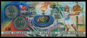 1988 Cook Islands 1256-1258strip 1988 Olympic Games in Seoul 13,00 €