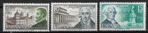 1973 Spain 1744-6 Great Spanish Architects MNH C/S of 3