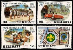 Kiribati Sc#410-413 75th Anniversary of the Scouting; MNH
