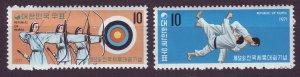 J24489 JLstamps 1971 south korea mh set #798-9 sports