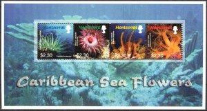 Montserrat 2006 Marine Life Sea Flowers Sheet MNH