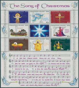 Christmas Island MNH 99 S/S The Song Of Christmas 1978