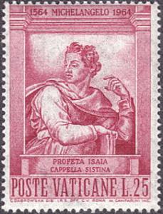 Vatican City # 388 mnh ~ 25 l Isaiah, by Michelangelo