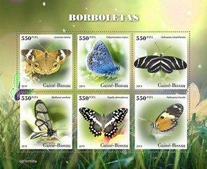 Z08 IMPERF GB191008a GUINEA BISSAU 2019 Butterflies MNH ** Postfrisch