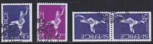 Sweden # 714-716, Field Ball Player, Used Set, 1/2 Cat