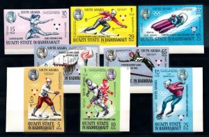 [95511] Aden Qu'aiti State Hadhramaut 1967 Olympic Games Grenoble Imperf. MNH